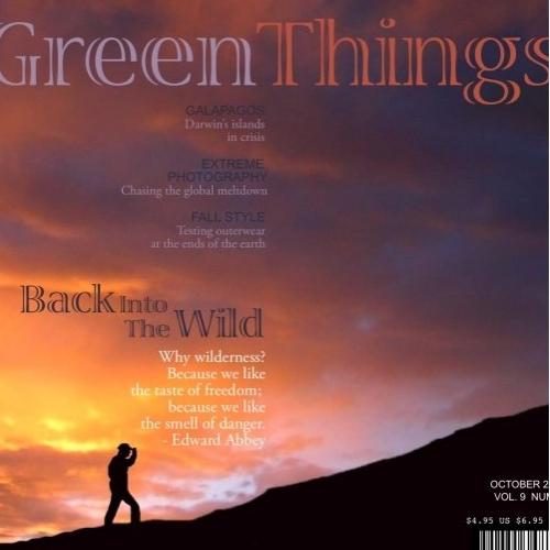 Green Things Magazine Cover
